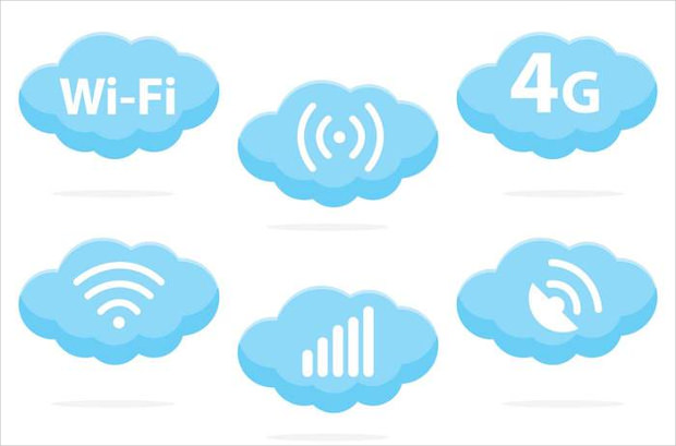 Wifi Cloud Logo Vector