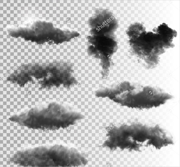 Tranparent Clouds and Smoke Vector