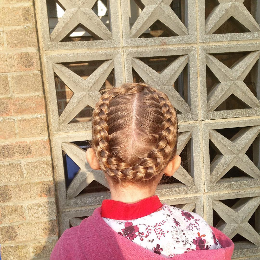 Round Design-Little Girl Hairstyle
