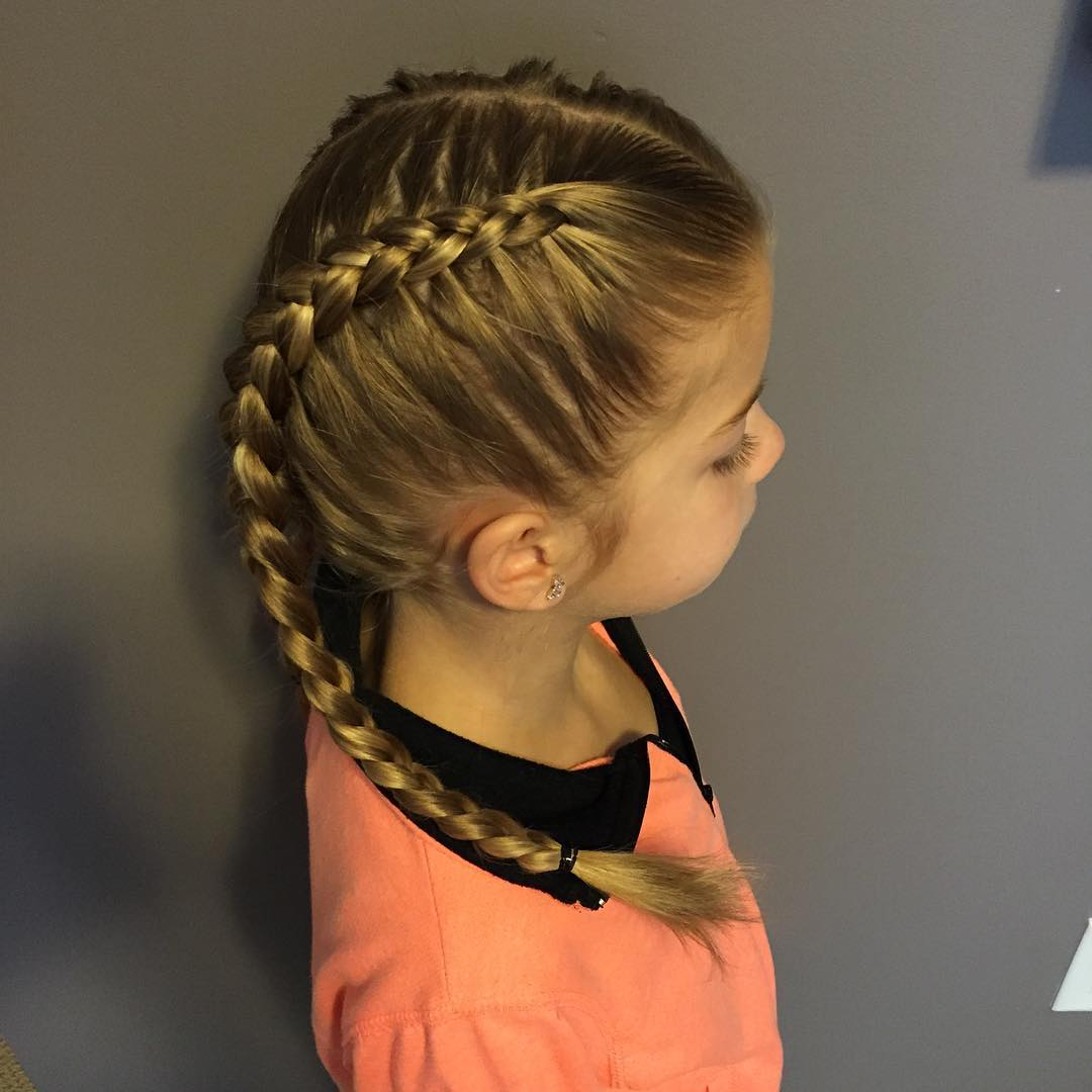 Trendy Look Little Girl Hairstyle