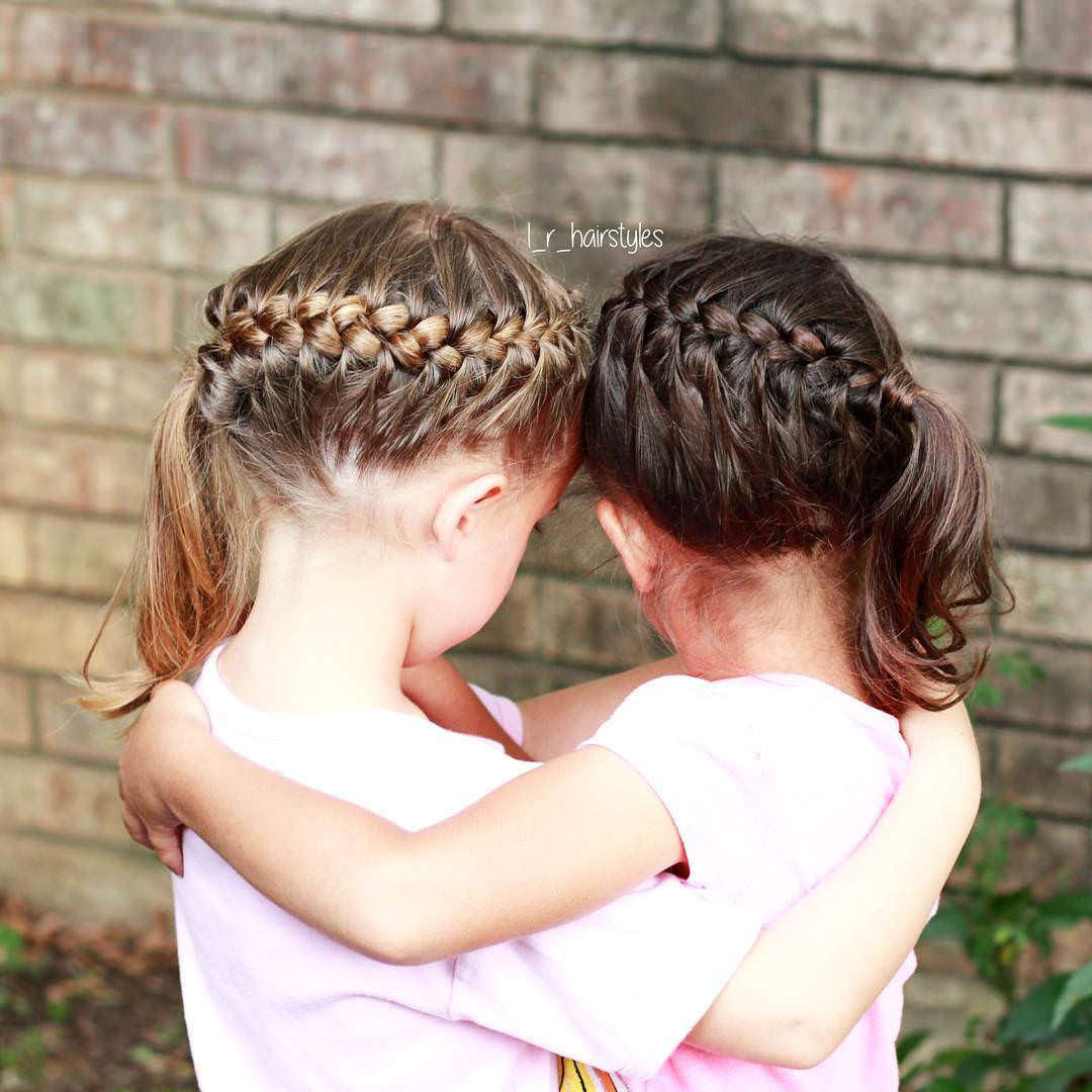 Twin Little Girl Hairstyle