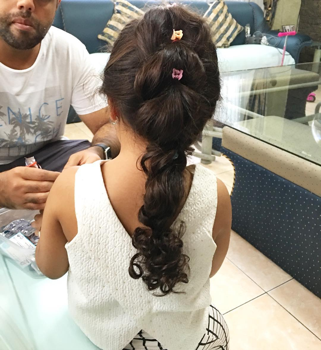 Cute Bun Little Girl Hairstyle