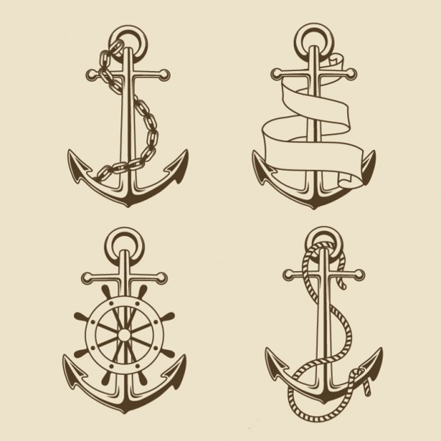 Collection of Anchors Shapes