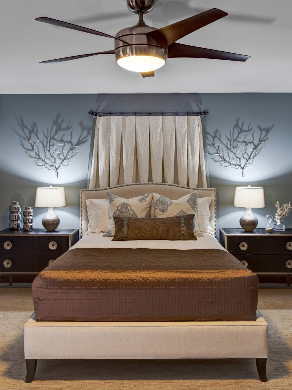Blue Bedroom Ceiling Design