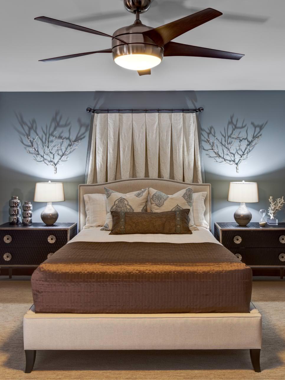 blue bedroom ceiling design