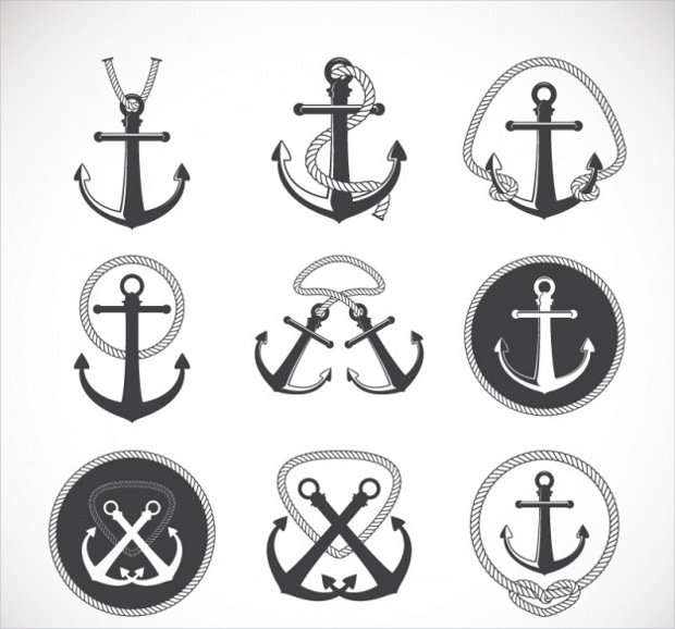 Anchor Vector Retro Style