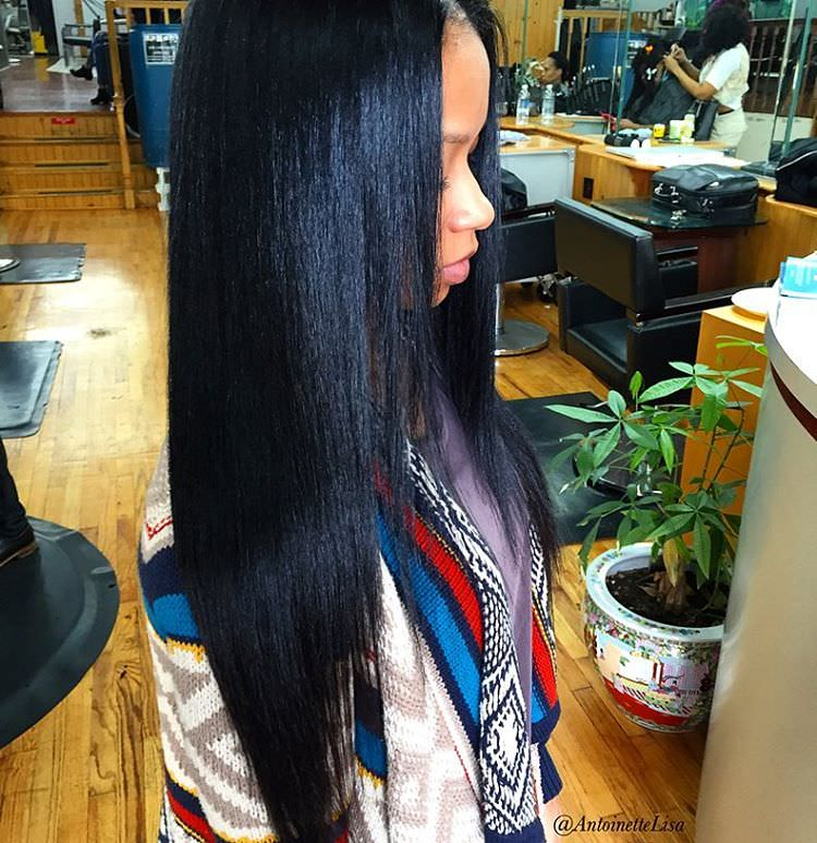 black straight hairstyle1