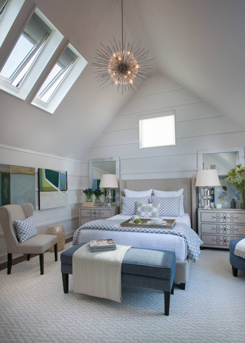 Slopped Ceiling Bedroom Design