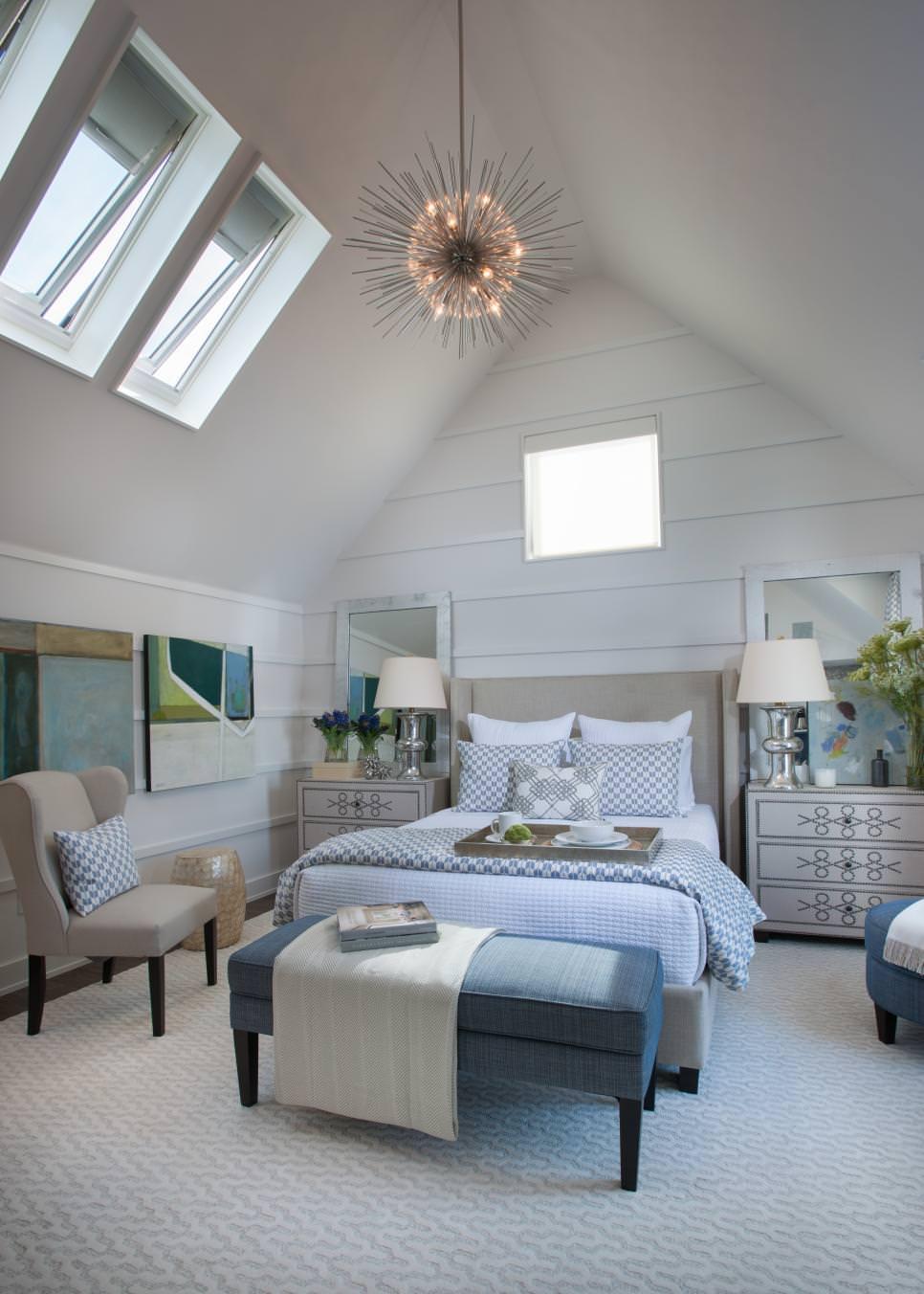 slopped ceiling bedroom design
