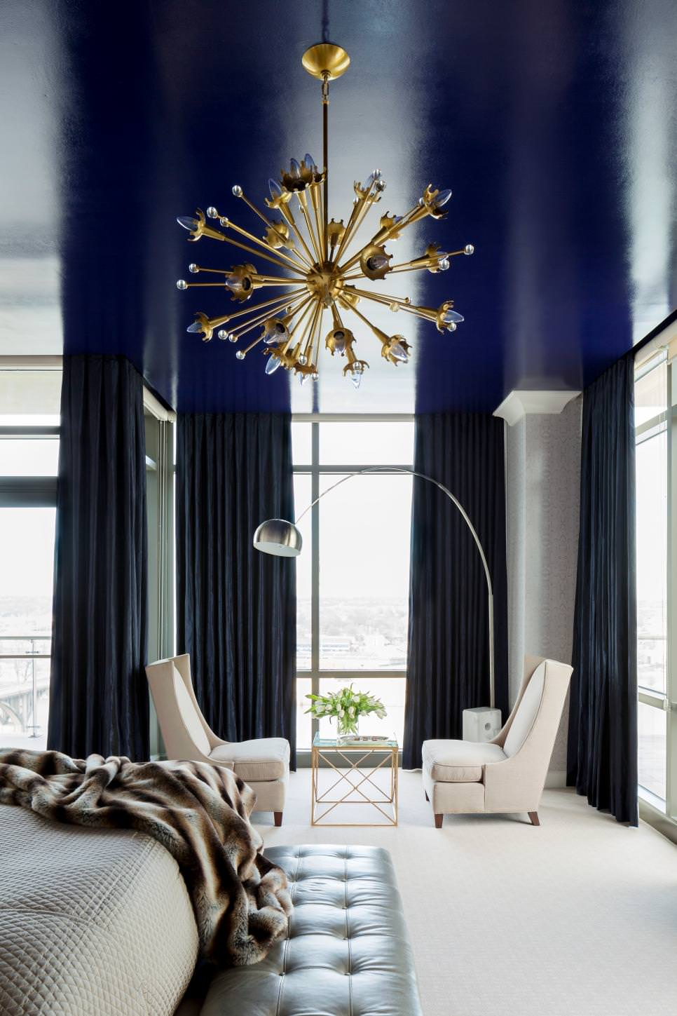 Royal Blue Bedroom Roof Design