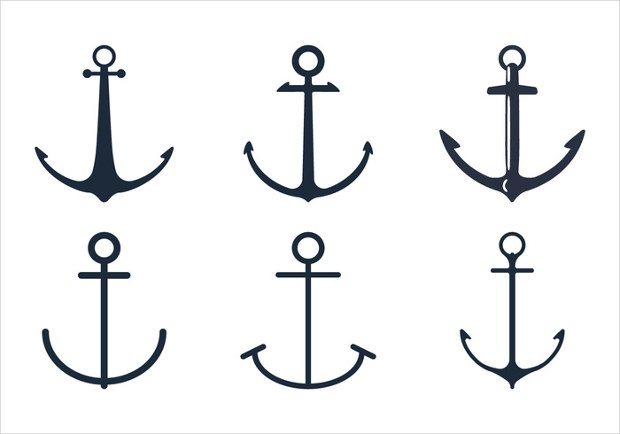 Anchor Shape Icon Set