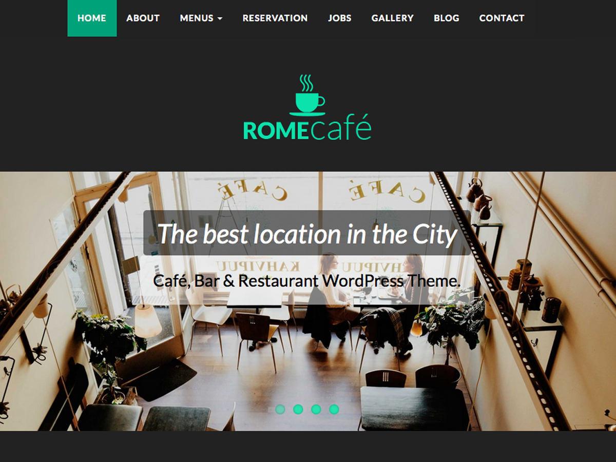 cafe bar restaurant wordpress theme