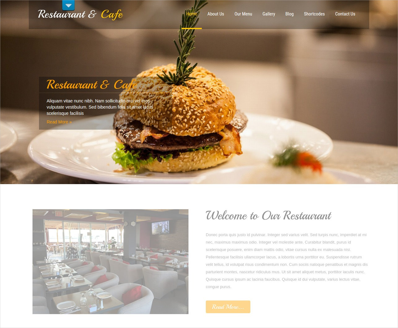 Free Cafe & Restaurant WordPress Theme