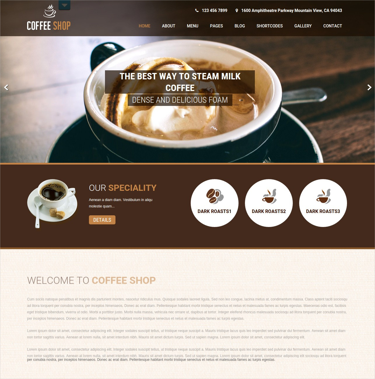Free Responsive Cafe and Restaurant WordPress Theme