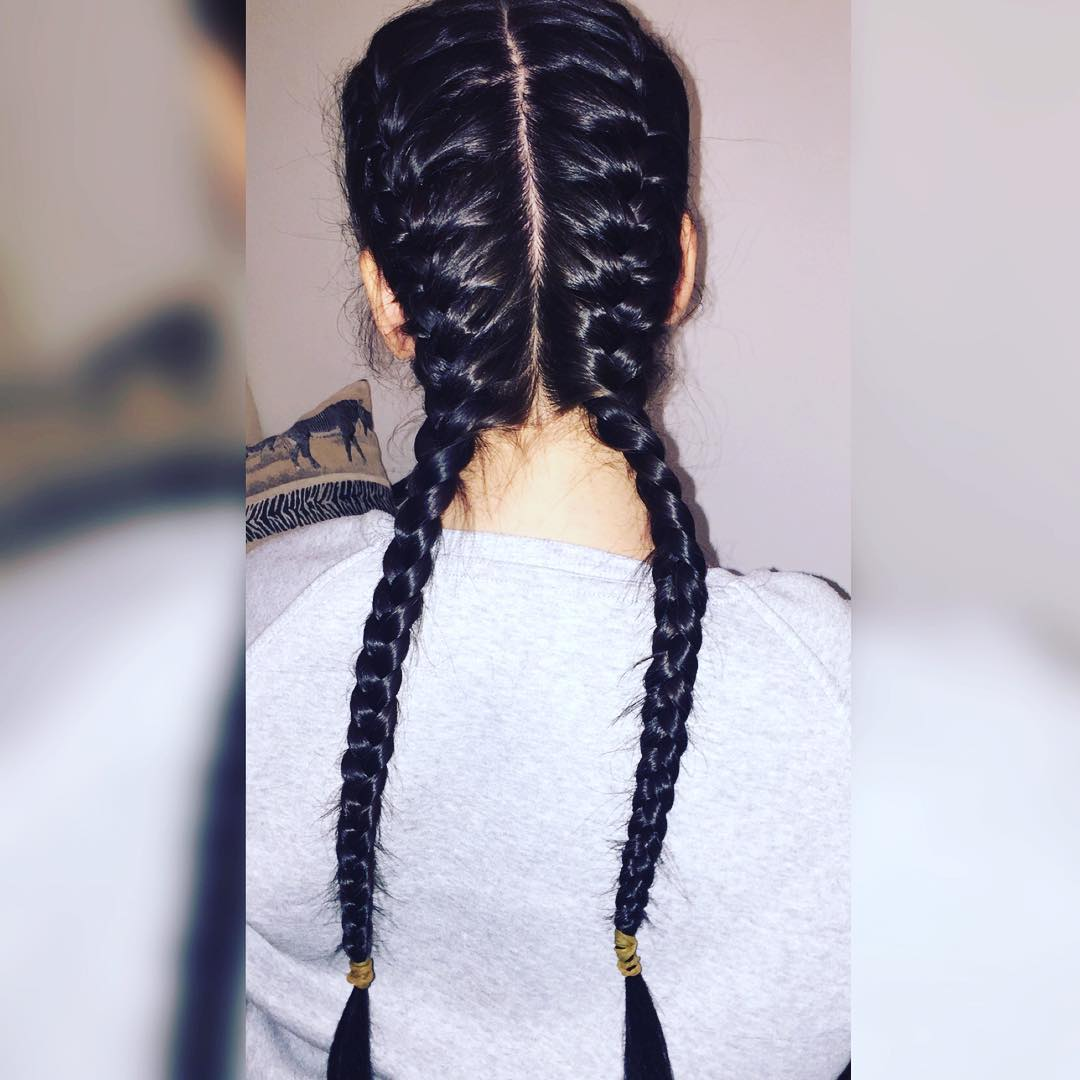 two braided french haircut