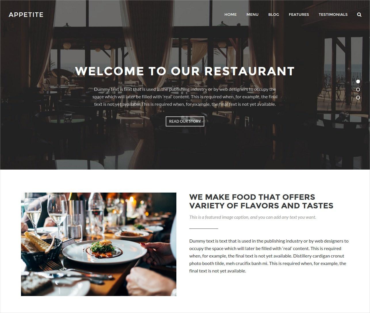 modern theme for restaurant