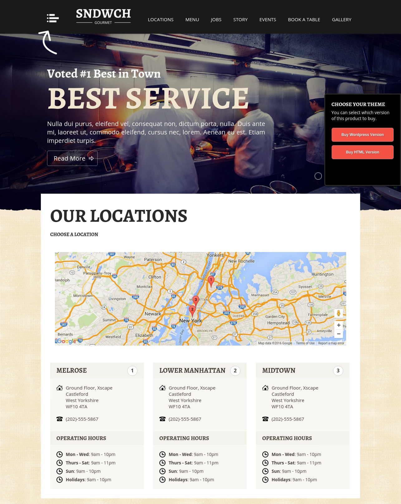 Ultimate Restaurant WordPress Theme