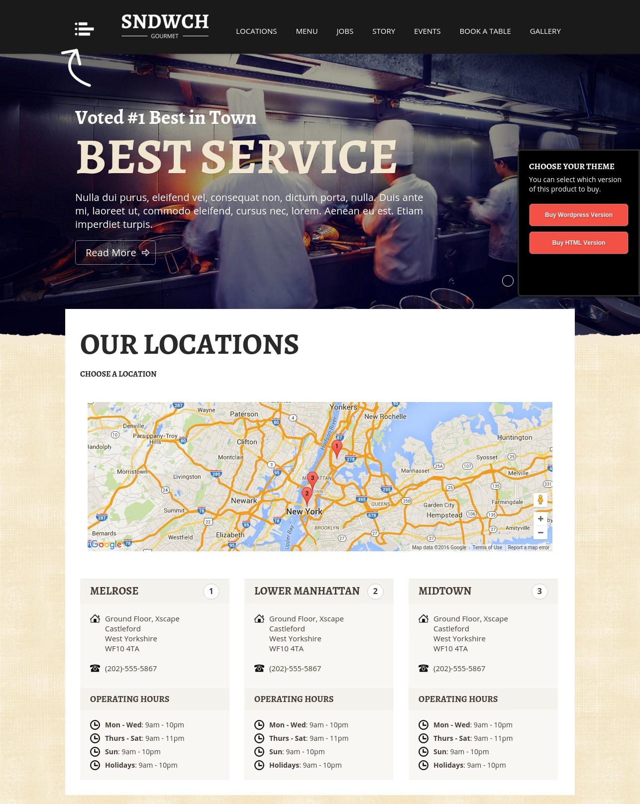 ultimate restaurant wordpress theme