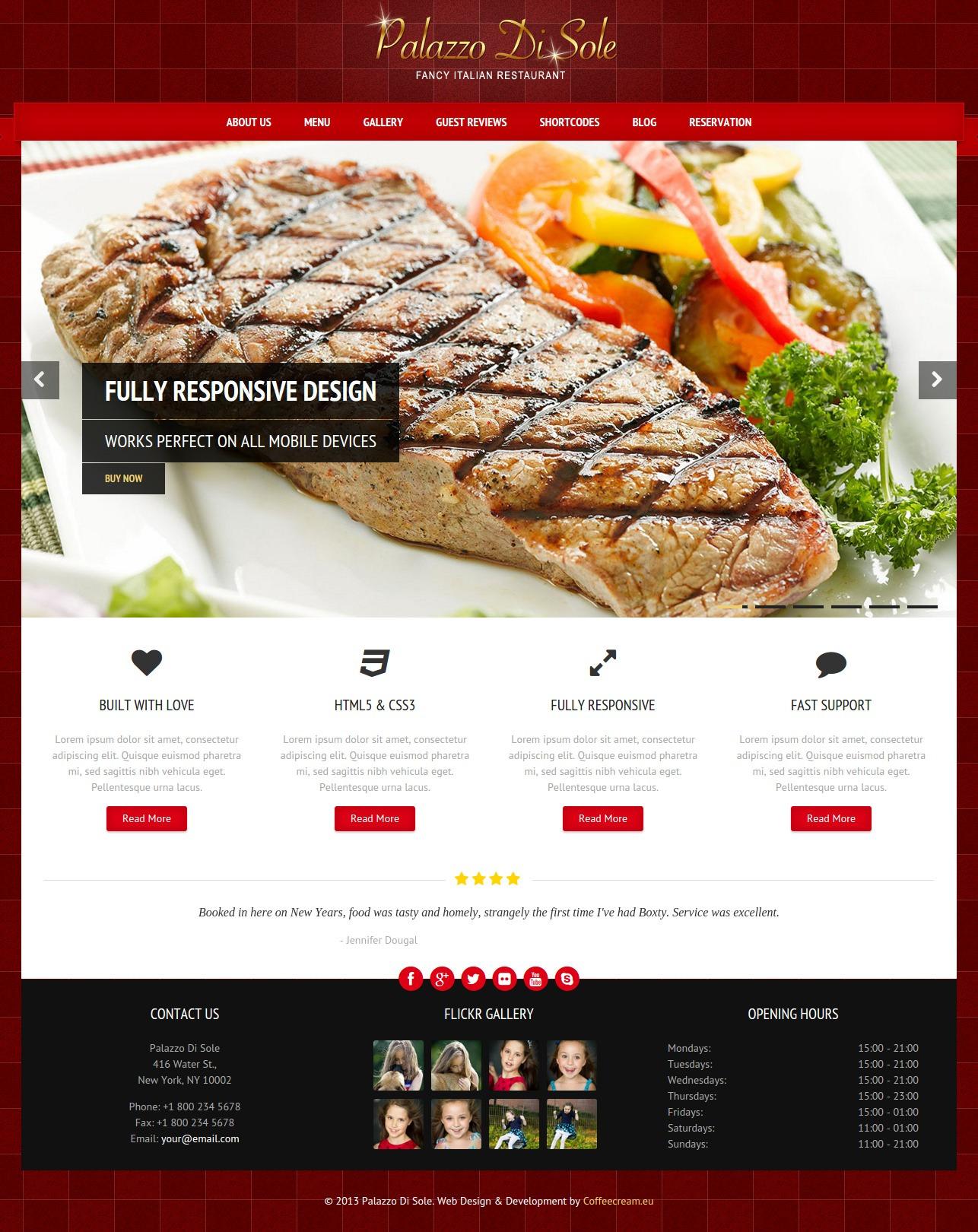 unique restaurant wordpress theme
