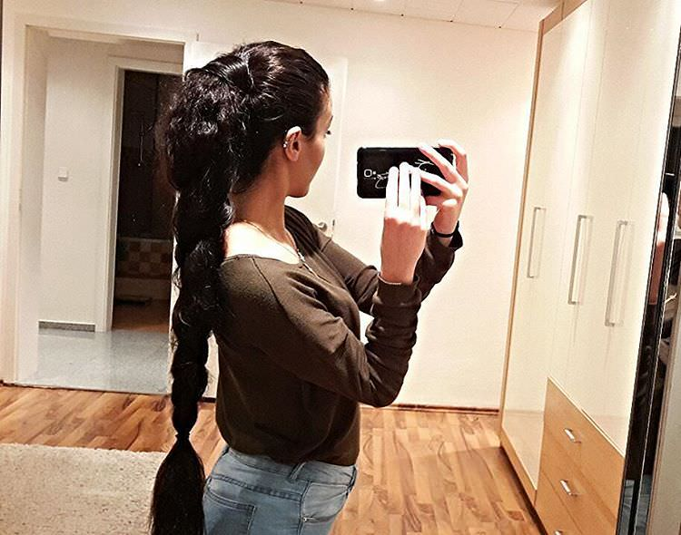Long Fat Braid Hairstyle
