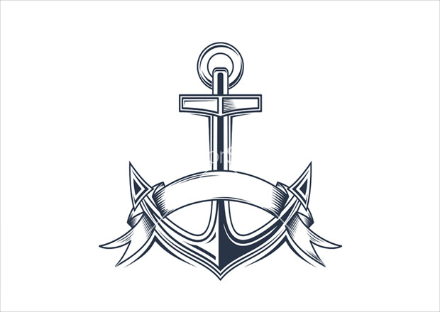 Vintage Anchor Vector Icon