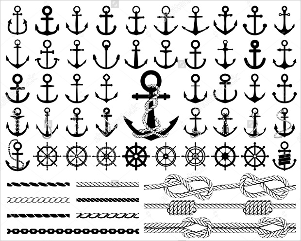 Rudders Icon Anchor Shape