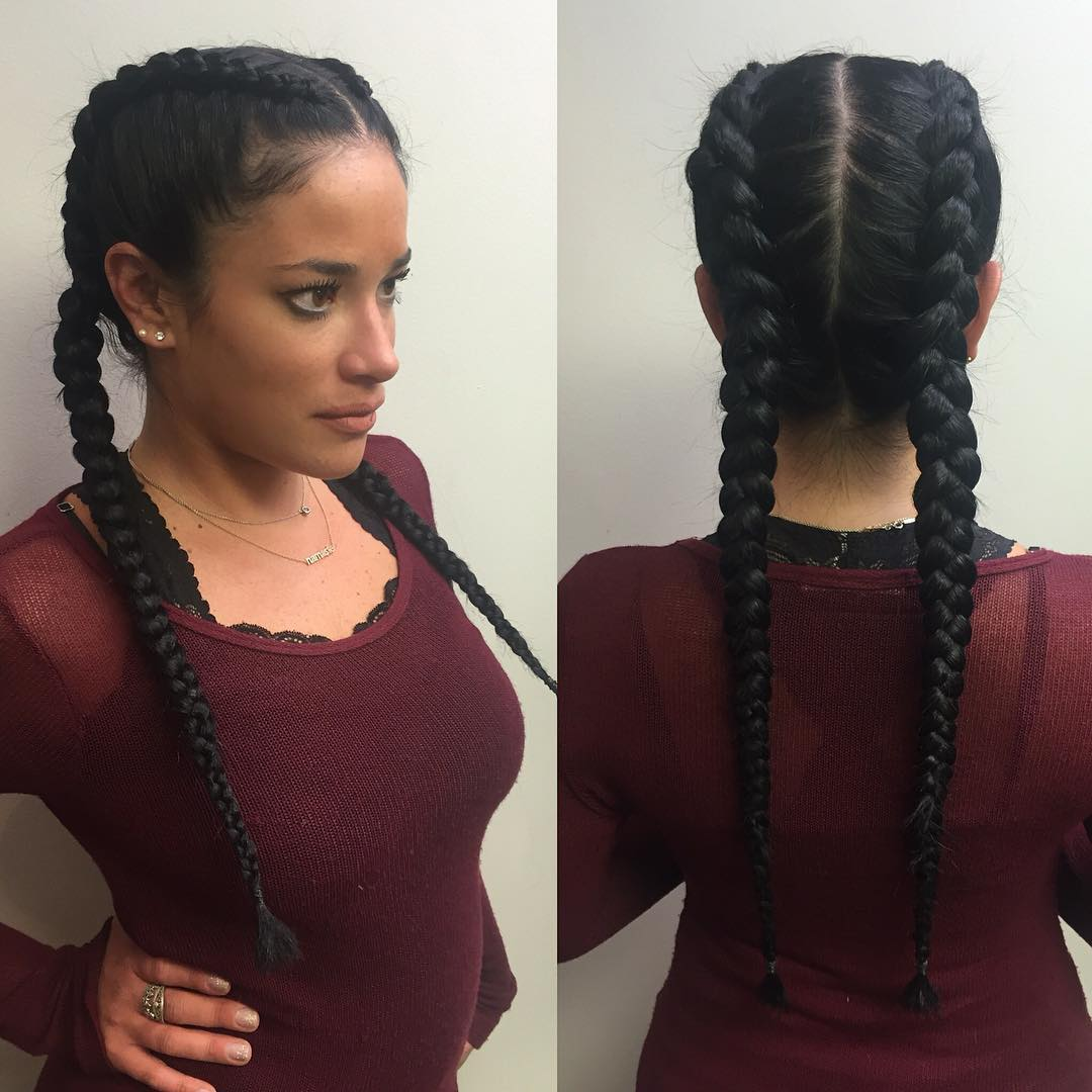 Fantastic Black Hairstyles With Two Braids Braids Short Hairstyles For Black Women Fulllsitofus