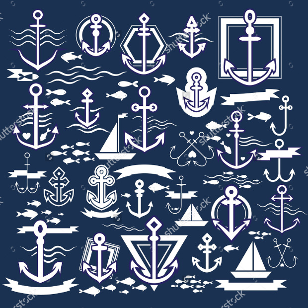 set of anchor picture icons