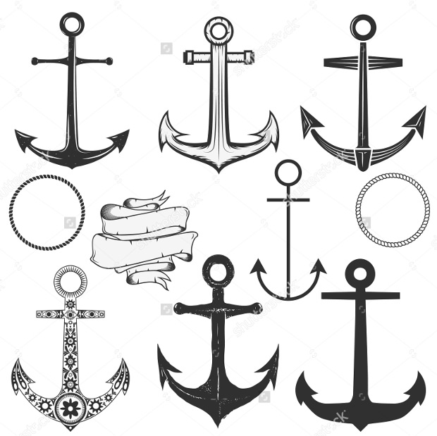 Vector Anchor Images Set