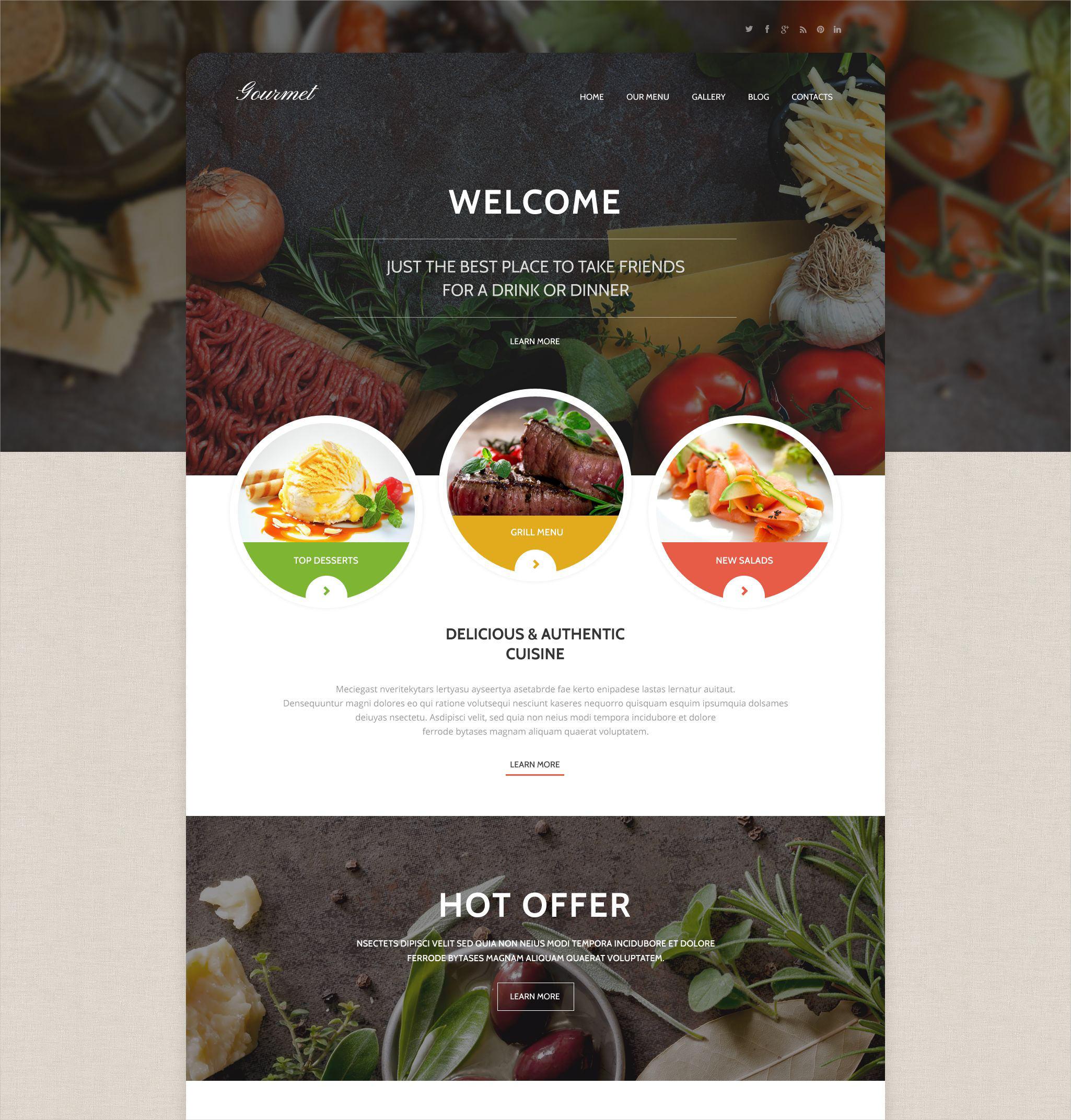 delicious restaurant wordpress theme1