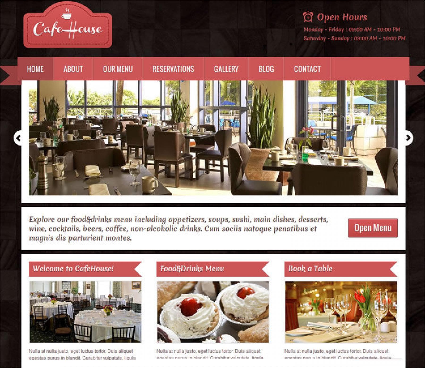 cafe house restaurant wordpress theme1