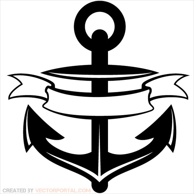 Anchor Vector Ribbon Clip Art