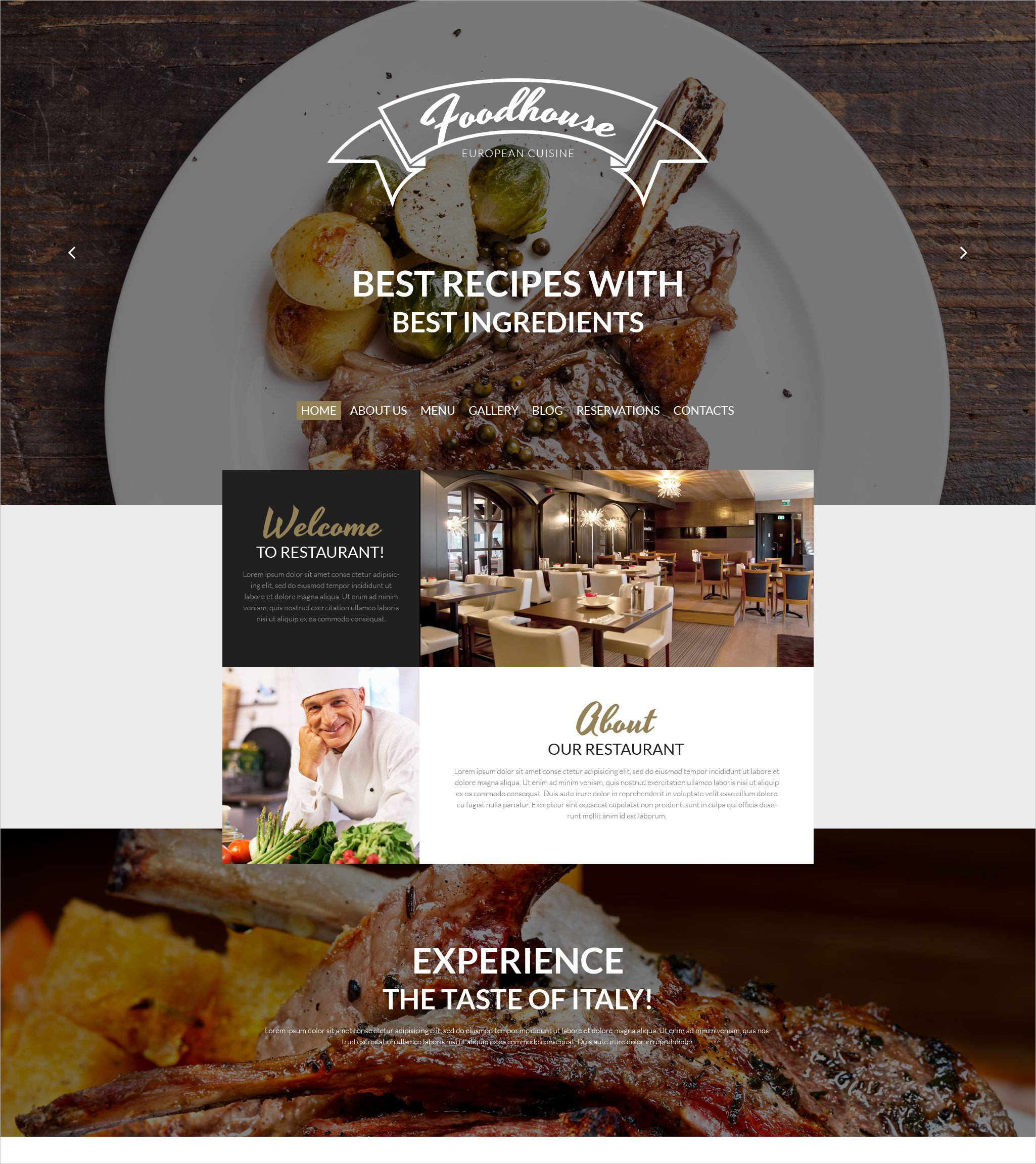 Best Rescipes Restaurant WordPress Theme