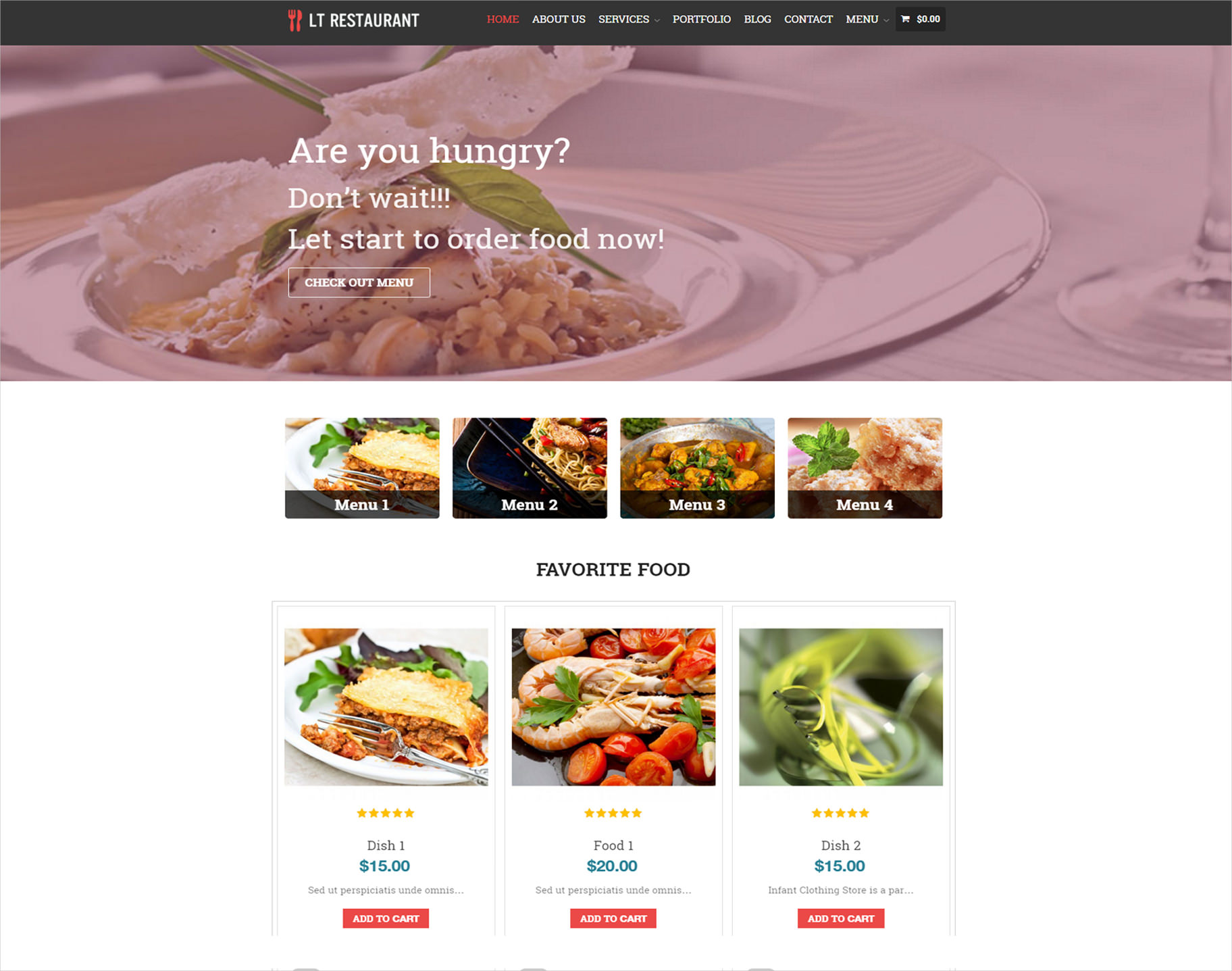 Modern Restaurant WordPress Theme
