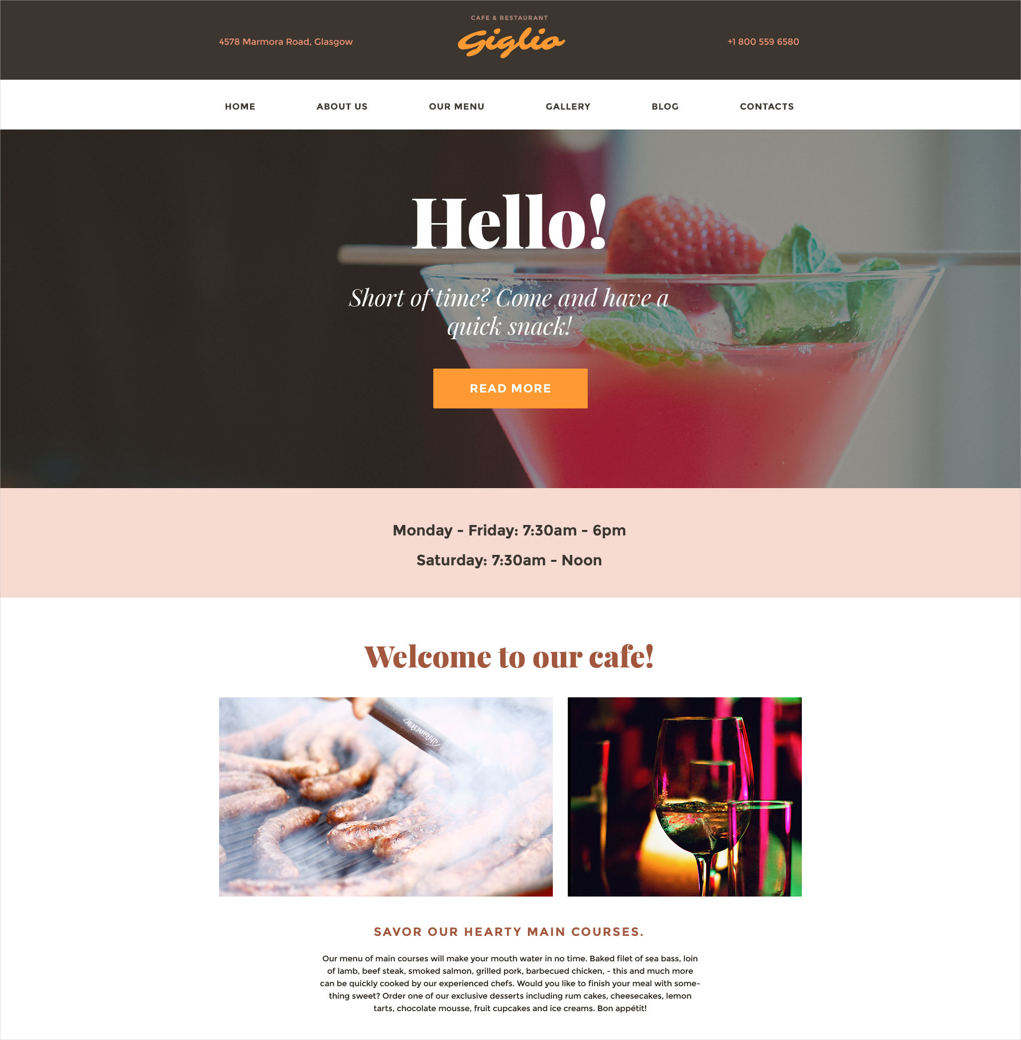 Classic Restaurant WordPress Themes