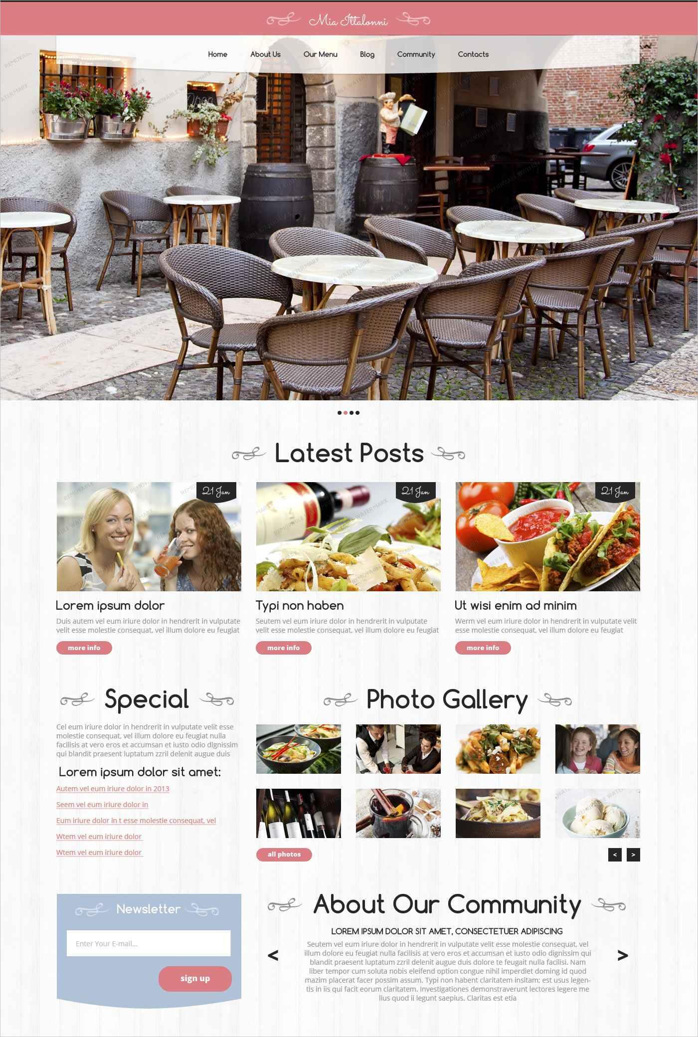 free wordpress restaurant theme1