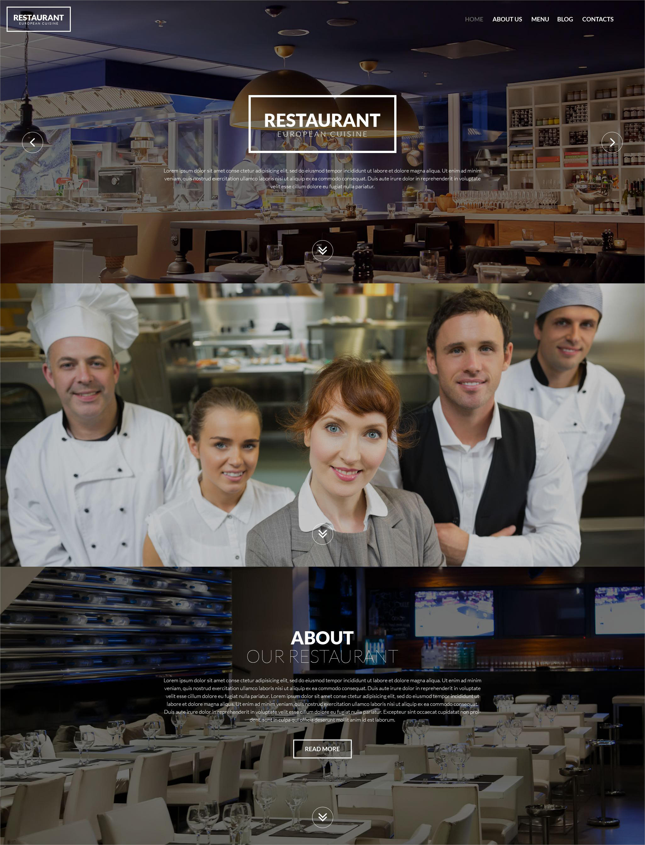 Restaurant European Cuisine WordPress Theme