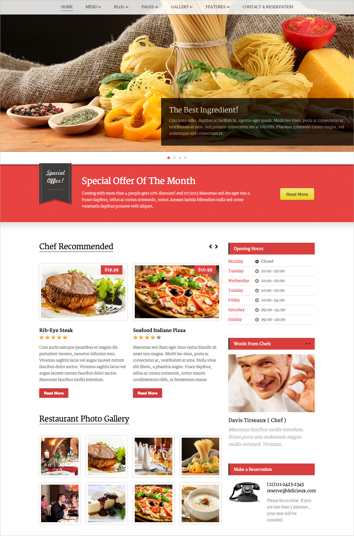WordPress Theme for Retail & Restaurant