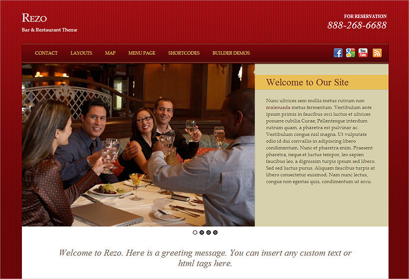 Bar & Restaurant WordPress Theme