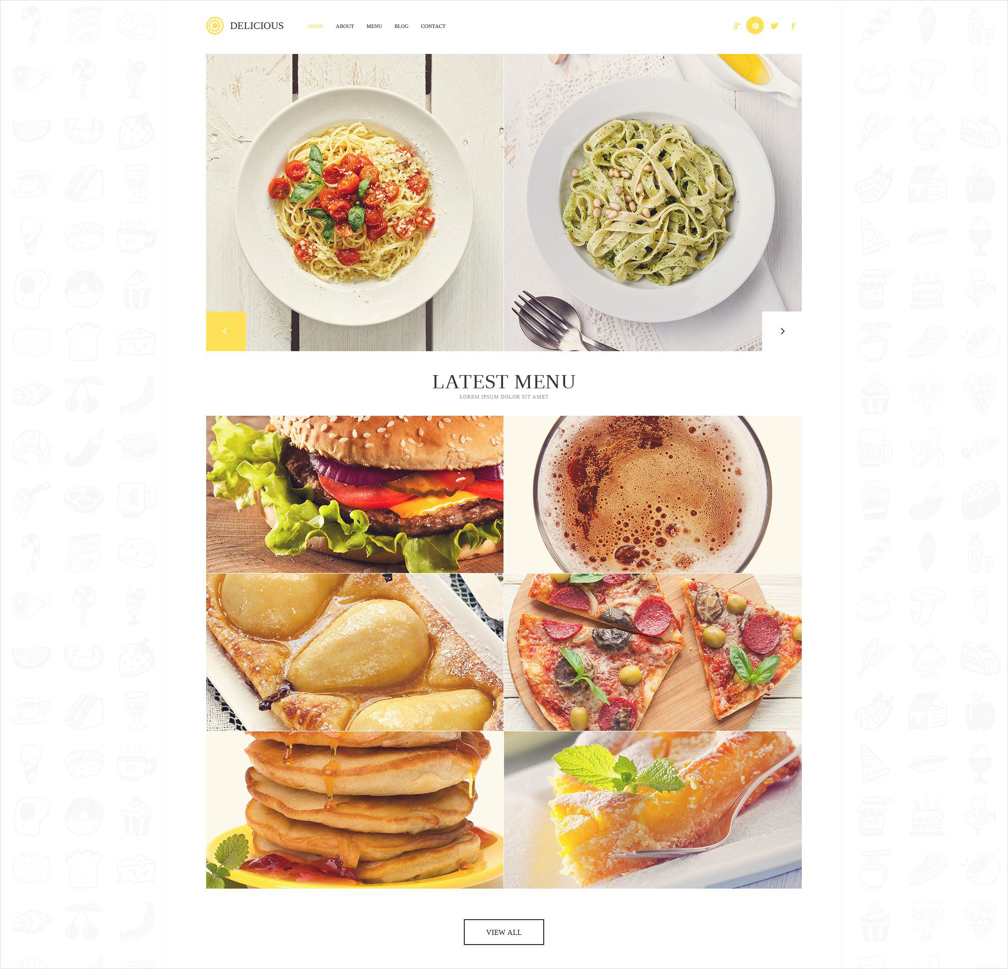 Modern Cafe Restaurant WordPress Theme