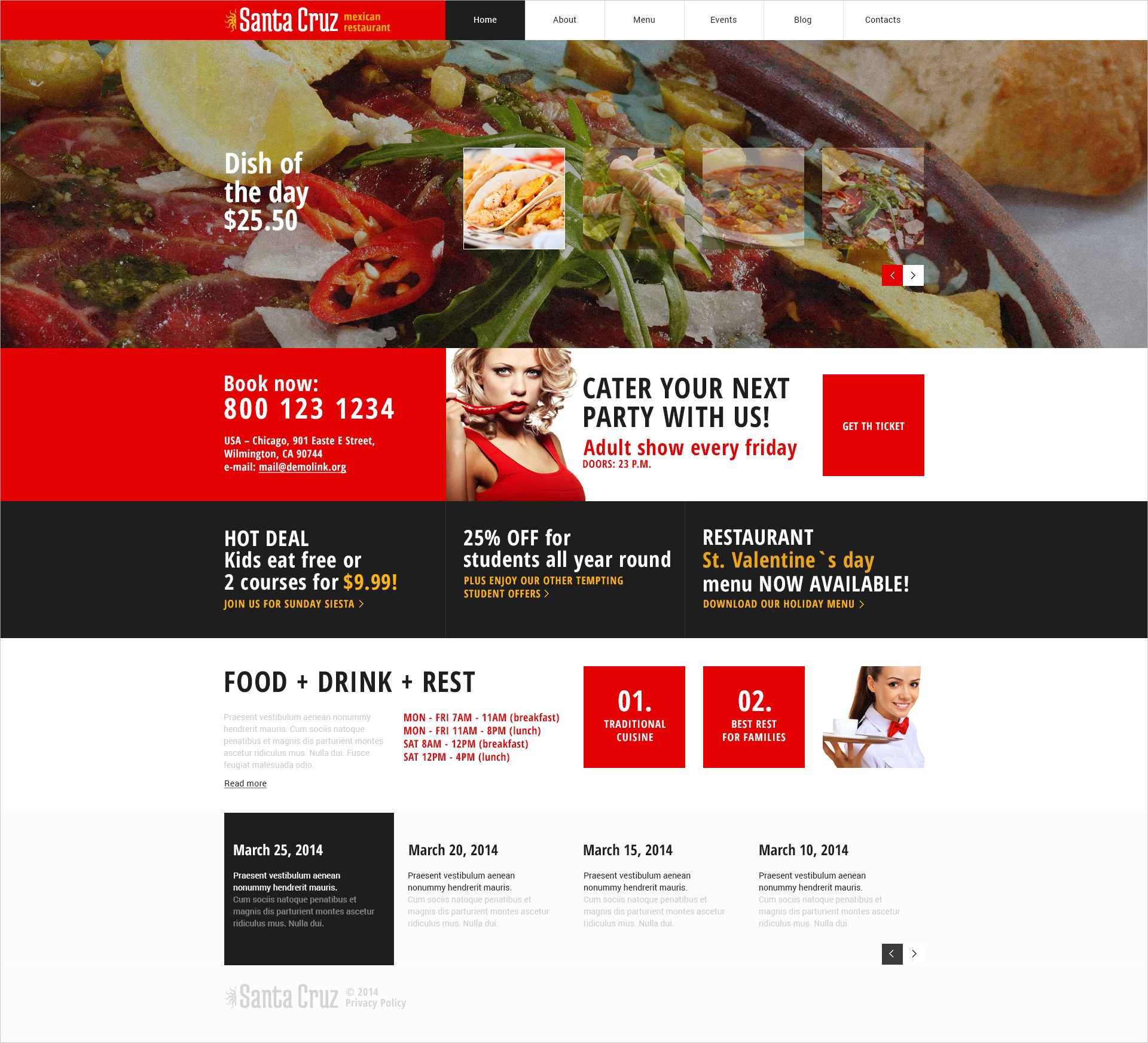 Mexican Restaurant Responsive WordPress Theme