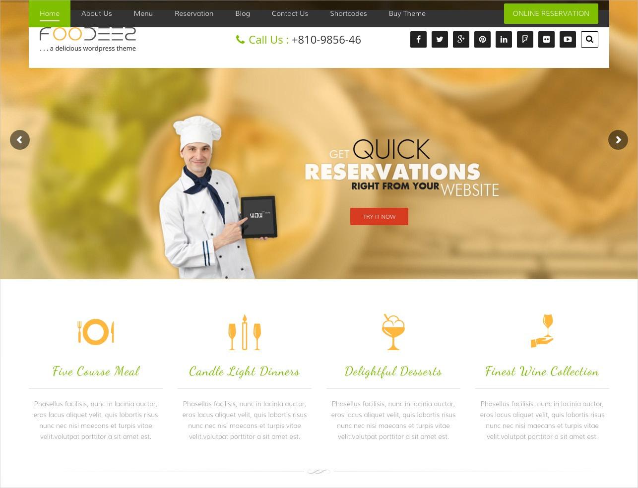 e restaurant wordpress theme1