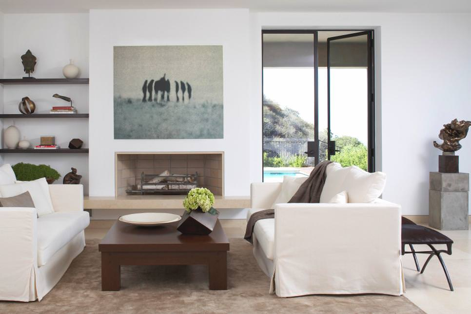 Modern Neutral Living Room with the art