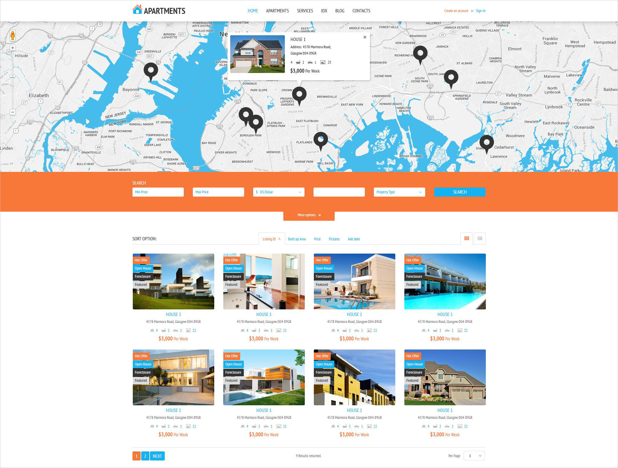 apartments agency wordpress theme