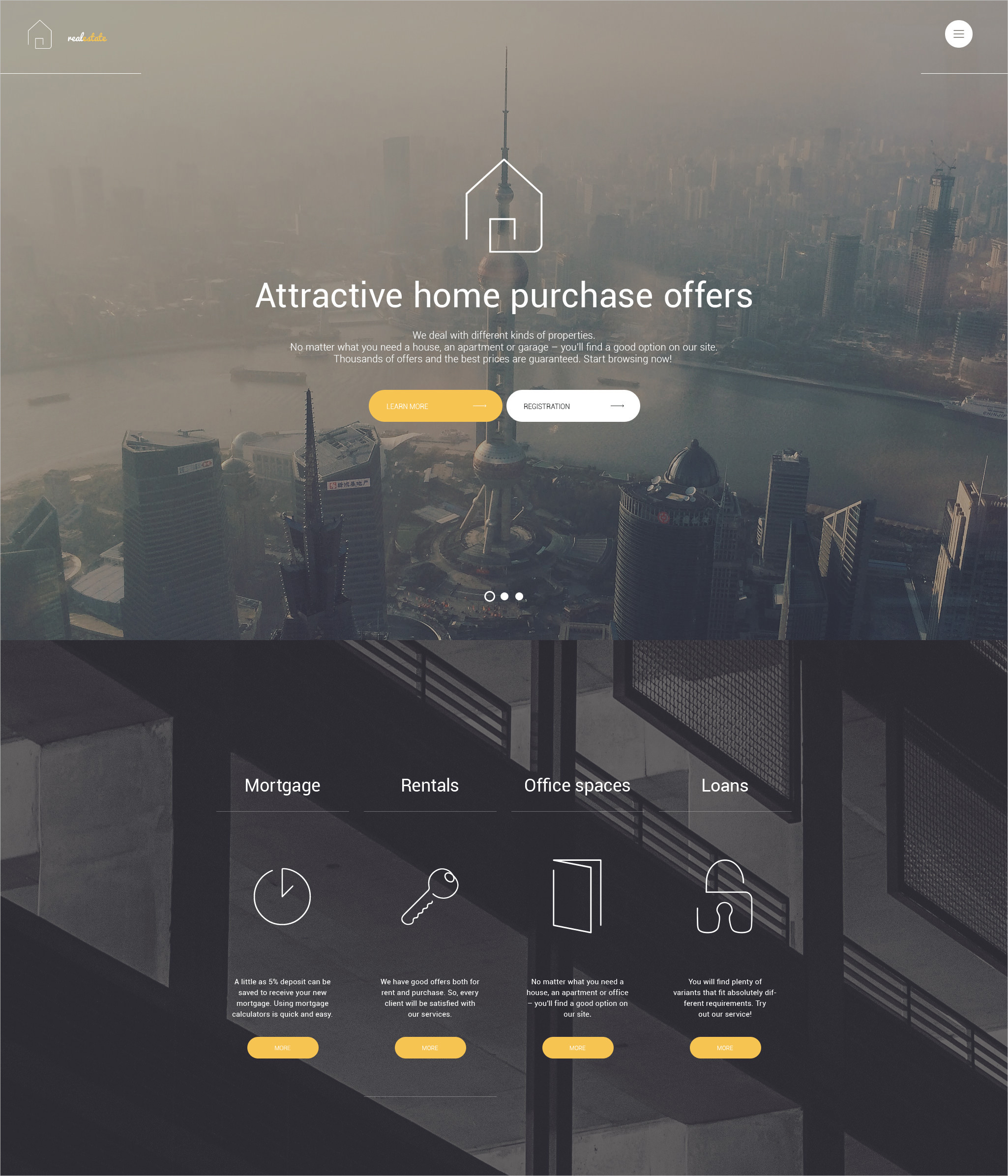 classic real estate wordpress theme