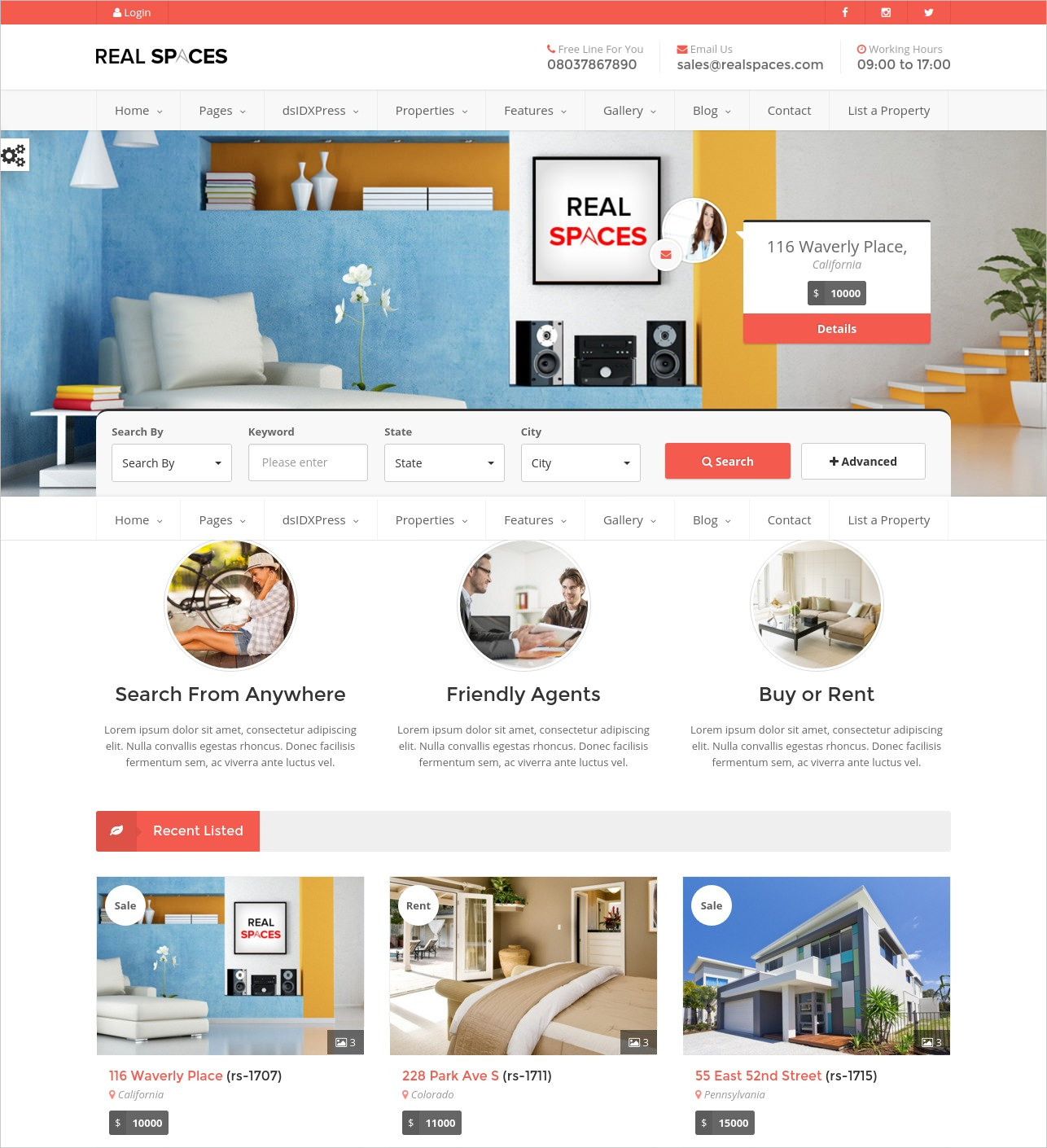 estate agents wordpress theme