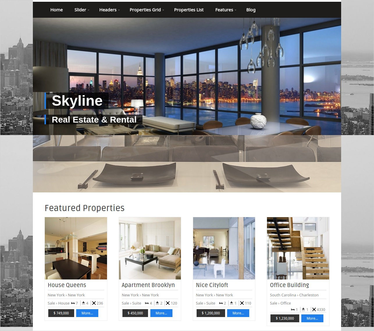 flexible wordpress theme for real estate