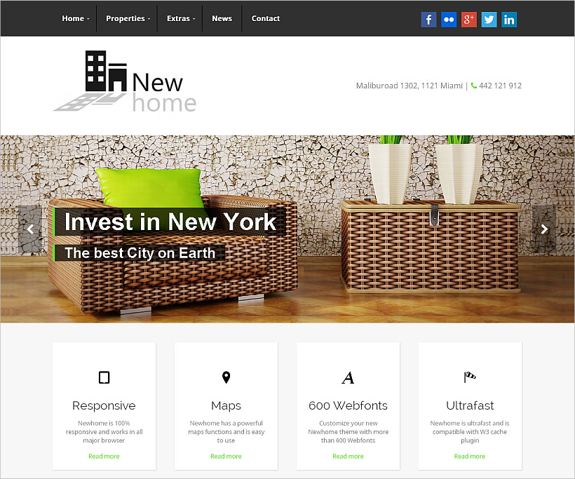 fully responsive wordpress real estate theme