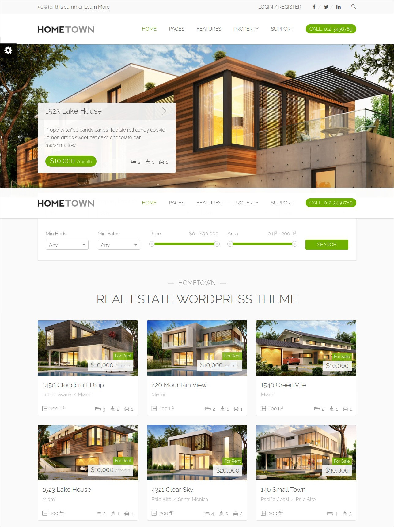 home town real estate wordpress theme