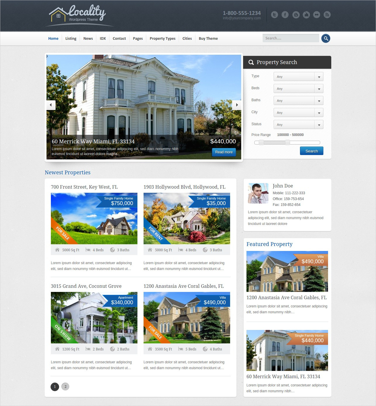 locality real estate wordpress theme